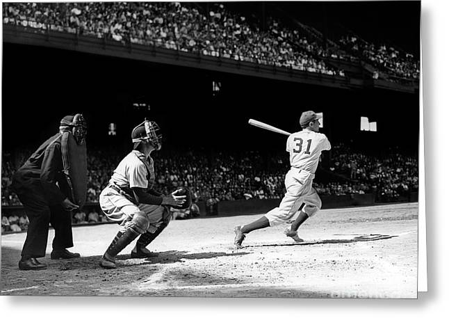 Baseball Game, Shibe Park Greeting Card by H. Armstrong Roberts/ClassicStock