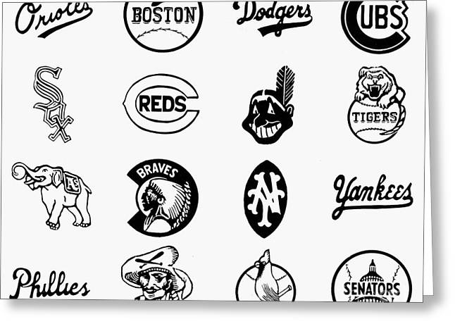 Baseball Logos Greeting Card by Granger