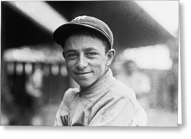Yankees Portraits Greeting Cards - Baseball Mascot Eddie Bennett Greeting Card by Underwood Archives