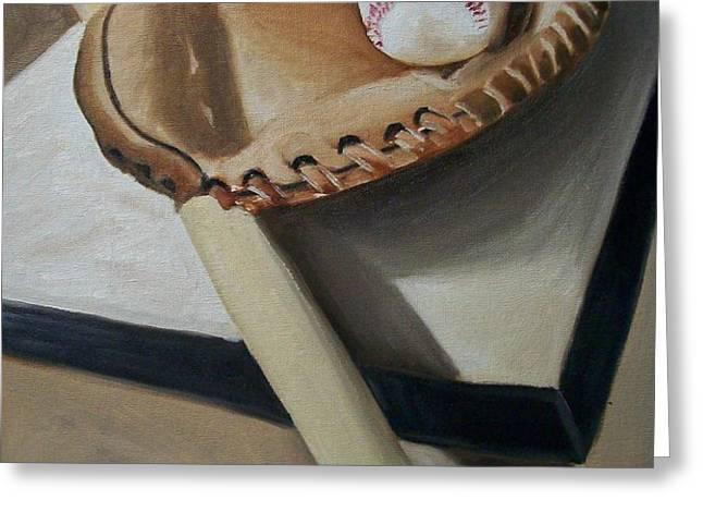 Baseball Greeting Card by Mikayla Henderson