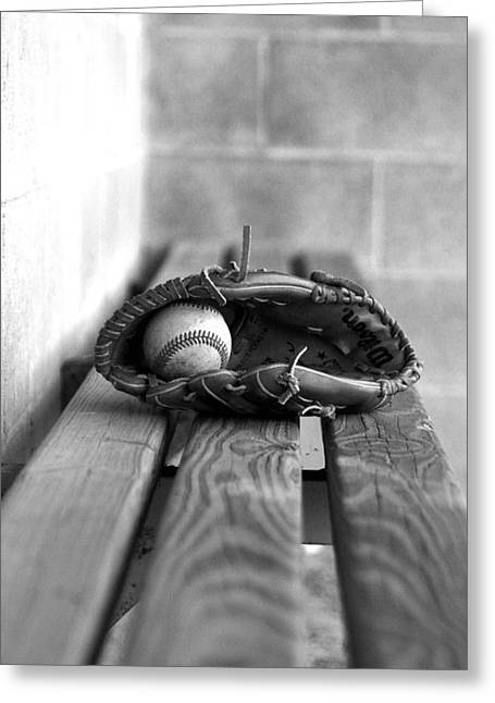 Baseball Still Life Greeting Card by Susan Schumann
