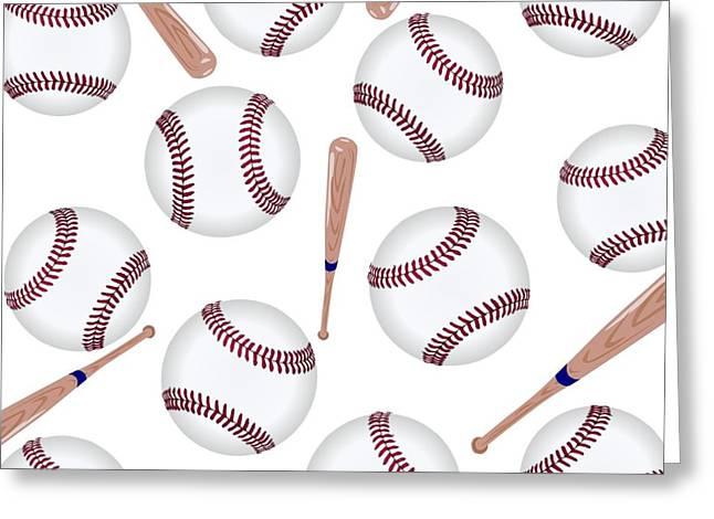 Baseball Shirt Greeting Cards - Baseball Toss Greeting Card by Florene Welebny