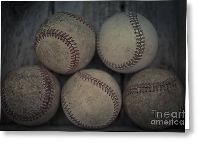 Baseball Equipment Greeting Cards - Baseballs Greeting Card by Edward Fielding