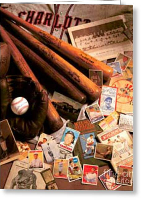 Baseball Uniform Greeting Cards - Baseballs Golden Age Greeting Card by Vintage Posters