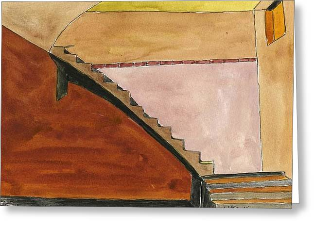 Basement Drawings Greeting Cards - Basement Greeting Card by Robert Wittig