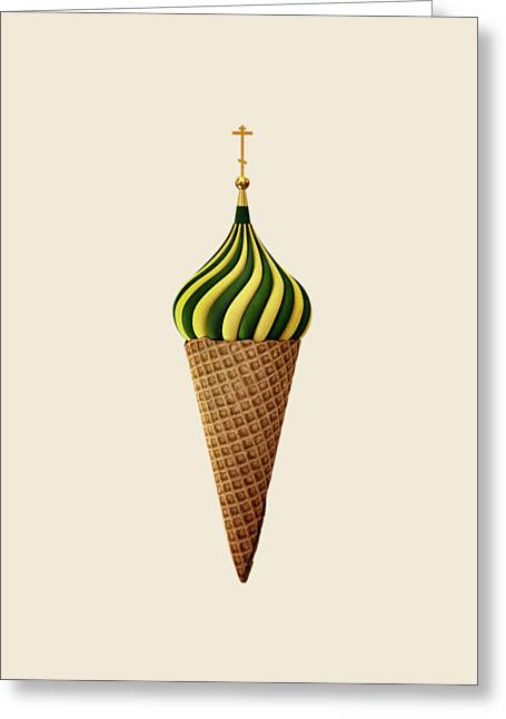 Dome Greeting Cards - Basil Flavoured Greeting Card by Nicholas Ely
