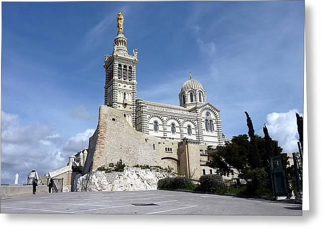 Basilica Notre-dame-de-la-garde, Marseilles, France Greeting Card by Elena Duvernay
