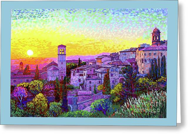 Basilica Of St. Francis Of Assisi Greeting Card by Jane Small