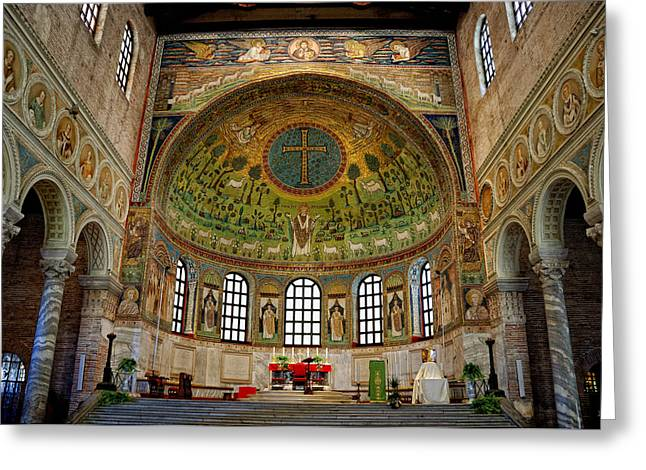 Classe Greeting Cards - Basilica of Sant Apollinare in Classe Greeting Card by Nigel Fletcher-Jones