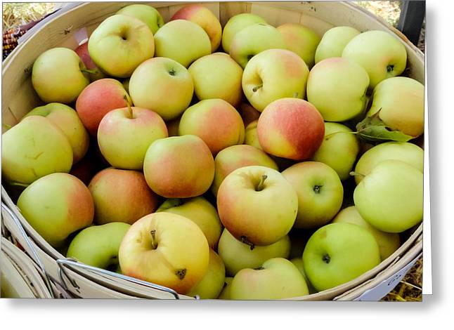 ist Photographs Greeting Cards - Basket Full of Apples Greeting Card by Cynthia Woods