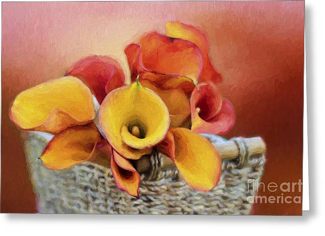 Basket Of Flowers Greeting Cards - Basket of Love Greeting Card by Darren Fisher