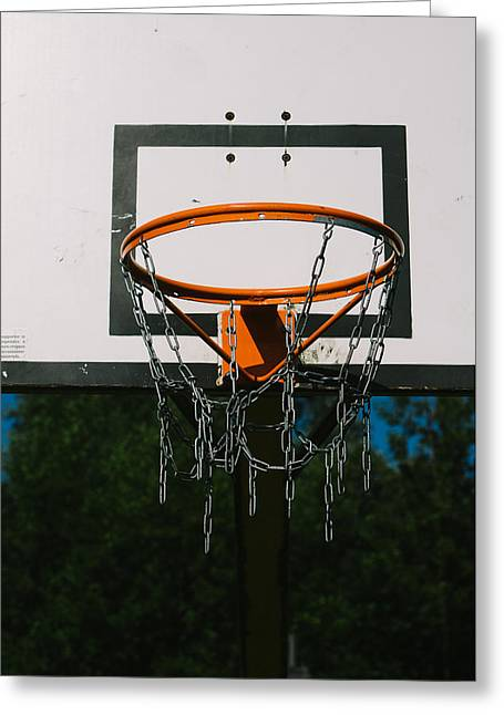 Basket Ball Game Greeting Cards - Basket Ring Greeting Card by Pati Photography