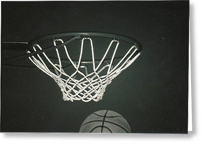 Basket Ball Game Greeting Cards - Basket Time Caught Greeting Card by Sabirah Lewis