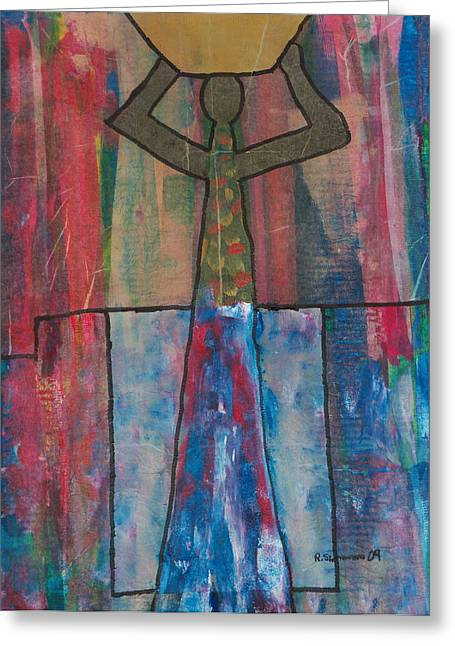 Russell Simmons Greeting Cards - Basket Woman Greeting Card by Russell Simmons