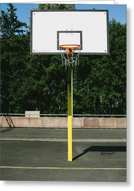 Basket Ball Game Greeting Cards - Basketball Greeting Card by Pati Photography