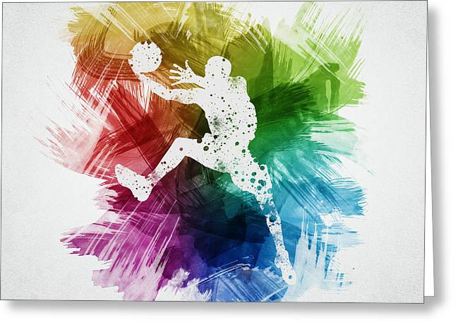 Basketball Player Art 04 Greeting Card by Aged Pixel