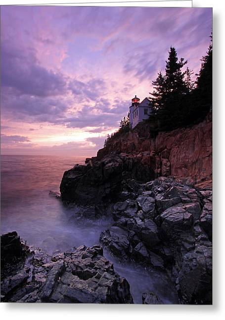 Maine Lighthouses Greeting Cards - Bass Harbor Head Light Greeting Card by Juergen Roth