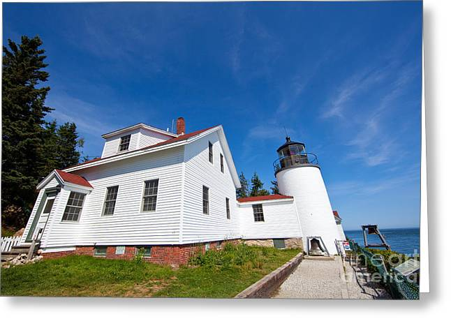 Maine Lighthouses Greeting Cards - Bass Harbor Head Light Maine Greeting Card by Wayne Moran