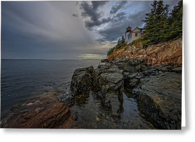 Maine Park Greeting Cards - Bass Harbor Head Lighthouse At Dawn Greeting Card by Rick Berk