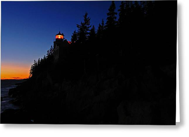 New England Lighthouse Greeting Cards - Bass Harbor Light Greeting Card by Juergen Roth