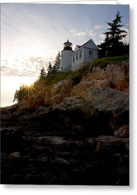 Brent L Ander Greeting Cards - Bass Harbor Lighthouse 1 Greeting Card by Brent L Ander