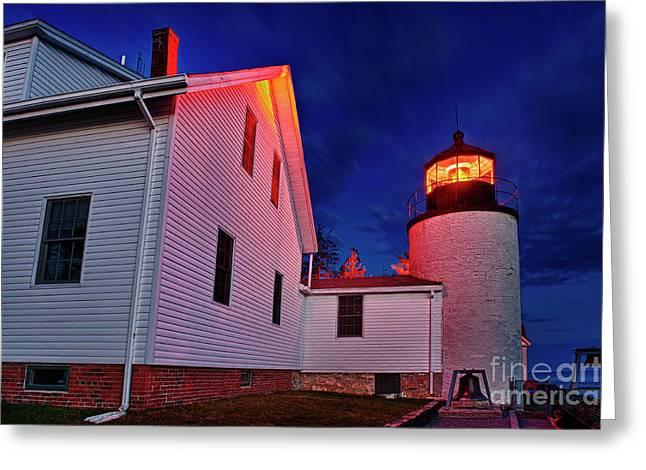 Bass Harbor Lighthouse Maine Greeting Card by John Greim