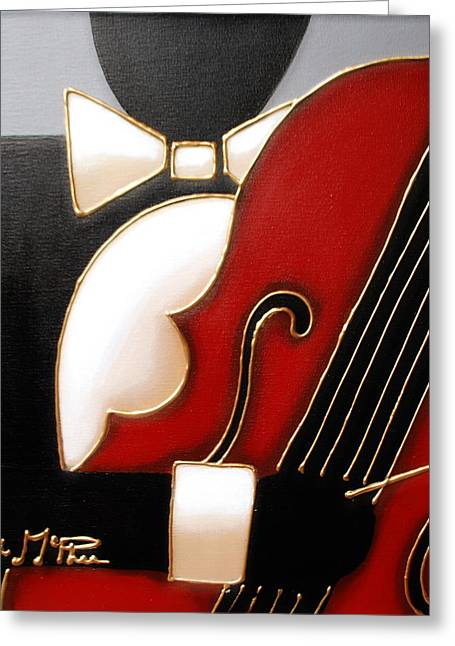 All That Jazz Greeting Cards - Bass Greeting Card by Lori McPhee