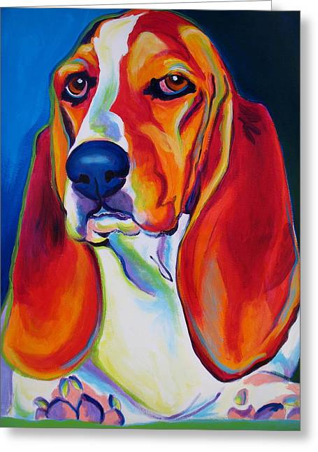 Basset Hound - Maple Greeting Card by Alicia VanNoy Call