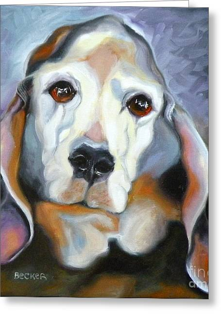 Basset Hound Greeting Cards Greeting Cards - Basset Hound Greeting Card by Susan A Becker