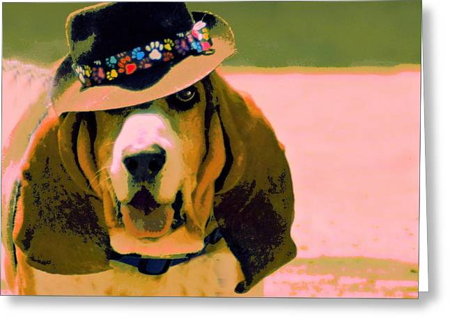 Basset Hound Greeting Cards Greeting Cards - Basset Hound Swagger Greeting Card by Marysue Ryan