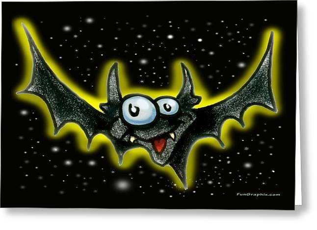 Bat Greeting Card by Kevin Middleton