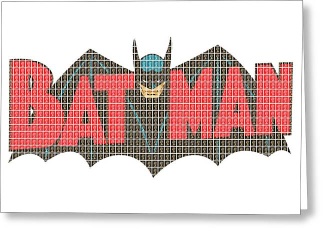 Crime Fighter Greeting Cards - Bat Man Greeting Card by Gary Hogben