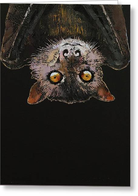 Bat Greeting Card by Michael Creese