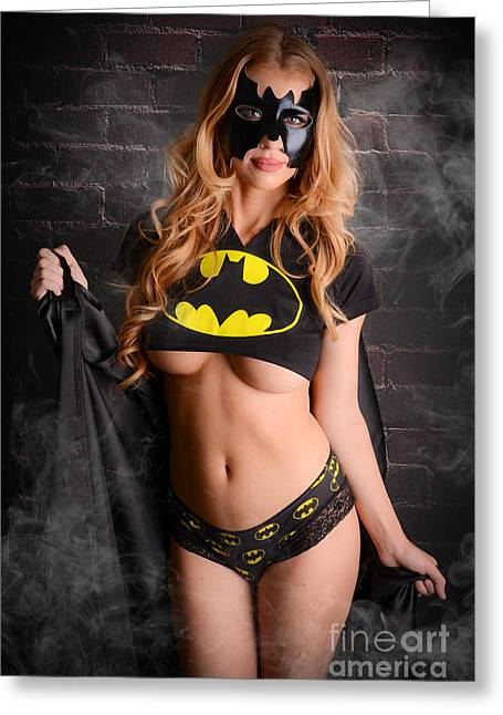 Super Girl Photographs Greeting Cards - BatGirl Greeting Card by Jt PhotoDesign