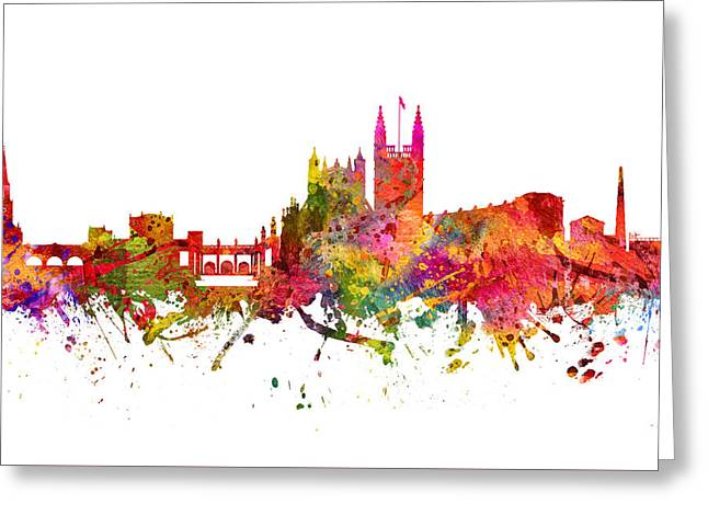 Bath Cityscape 08 Greeting Card by Aged Pixel