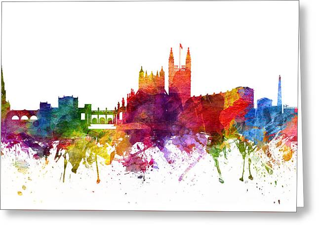 Bath England Cityscape 06 Greeting Card by Aged Pixel