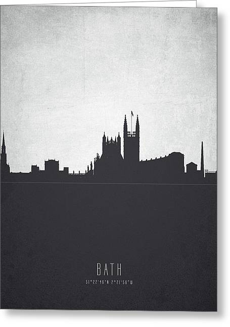 Bath England Cityscape 19 Greeting Card by Aged Pixel