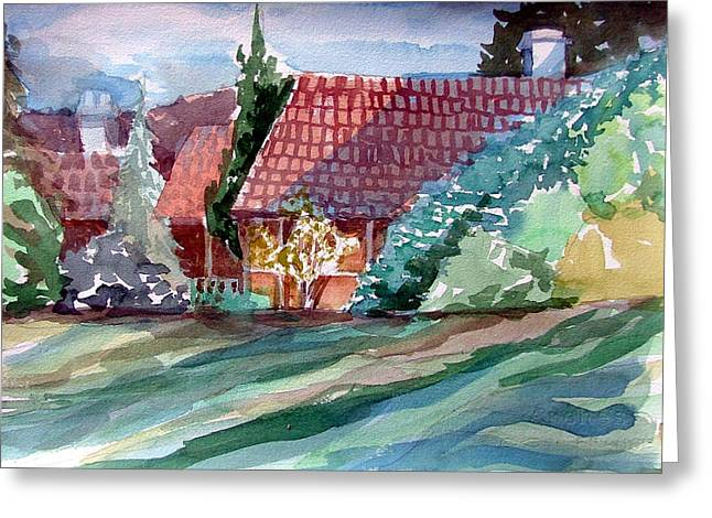Summer Landscape Drawings Greeting Cards - Bath England Greeting Card by Mindy Newman