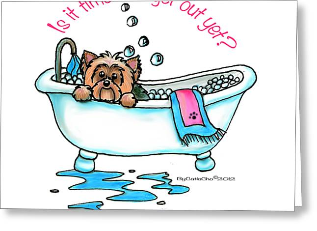 Bath time Greeting Card by Catia Cho