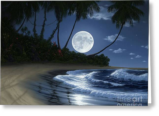 Bathed In Moonlight Greeting Card by Al Hogue