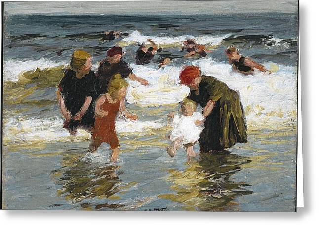 Bathers Greeting Card by Edward Henry
