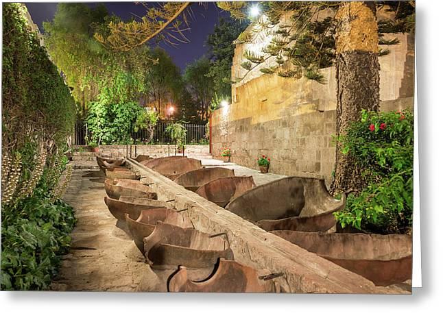 Bathing Area In Santa Catalina Monastery Greeting Card by Jess Kraft