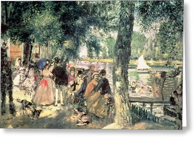 Promenade Greeting Cards - Bathing on the Seine or La Grenouillere Greeting Card by Pierre Auguste Renoir
