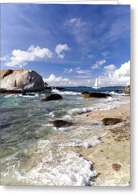 Shore Excursion Greeting Cards - Baths at Virgin Gorda Greeting Card by Carol Barrington