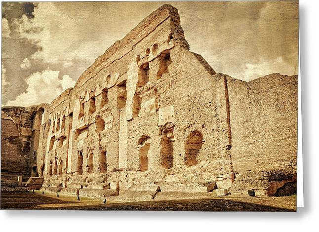 Baths Of Caracalla - Rome Italy Greeting Card by Marzia Giacobbe