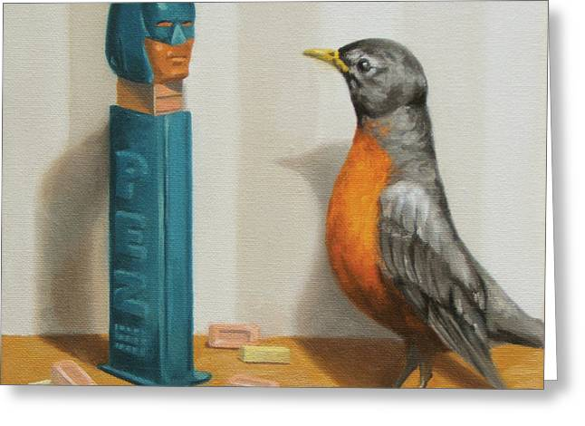 Pez Greeting Cards - Batman and Robin Greeting Card by Judy Sherman