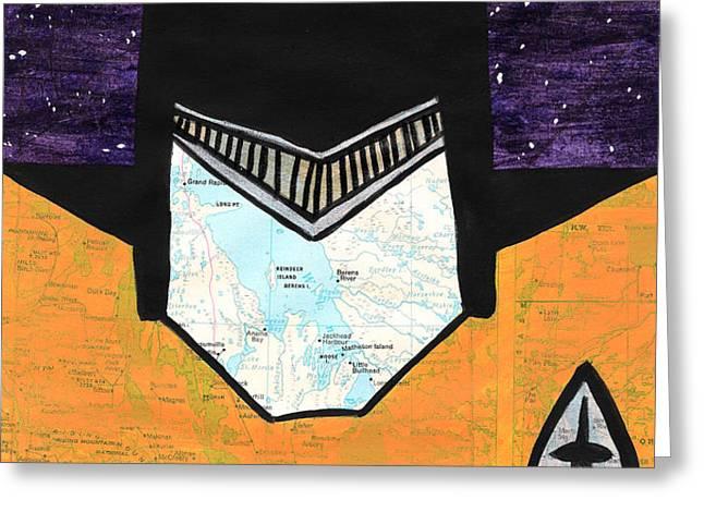 Batman as Geordi La Forge Greeting Card by Jera Sky