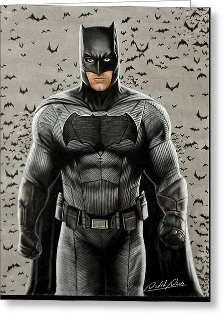 Batman Ben Affleck Greeting Card by David Dias