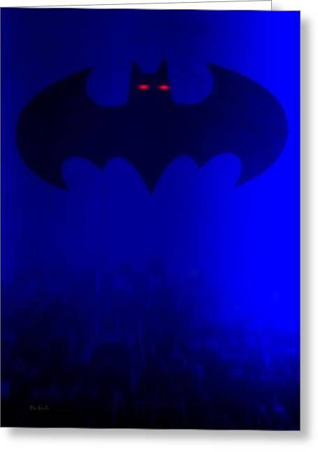 Gotham City Digital Greeting Cards - Batman Greeting Card by Bob Orsillo