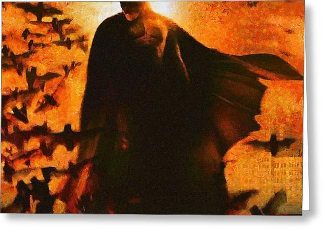 Dark Knight Greeting Cards - Batman Greeting Card by Elizabeth Coats